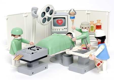 En el quirófano.
