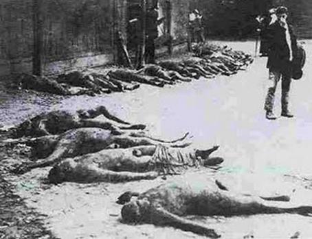 Ucranianos asesinados en Kíev durante el Terror Rojo, 1919.
