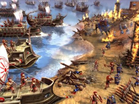 Espartanos contra persas. Del juego Ancient Wars.