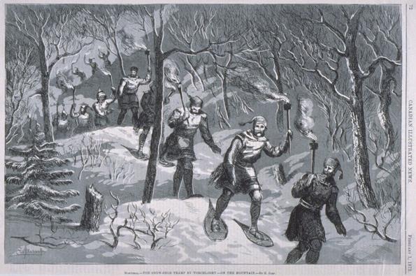 Travesía por la montaña, 1873.