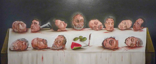"""Gustavo Monroy, """"La última cena mexicana""""."""