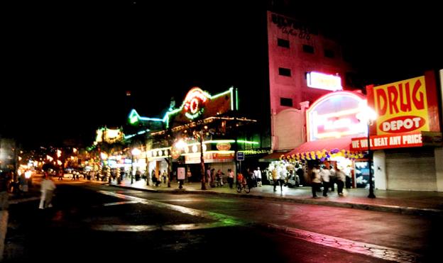 Tijuana nocturna. Foto © Colegio de la Frontera Norte.