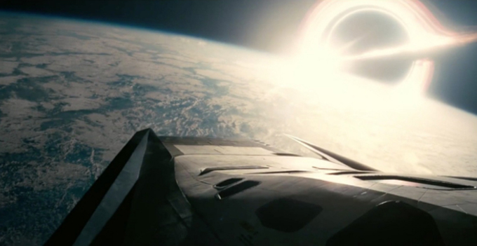 Dentro del espacio, en Interstellar.