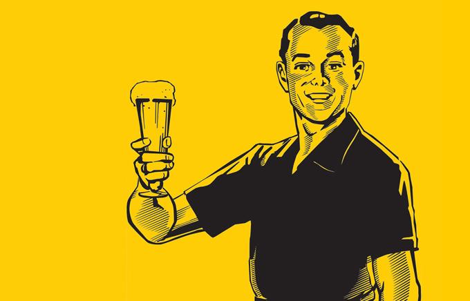 Toma cerveza y sé tú mismo.