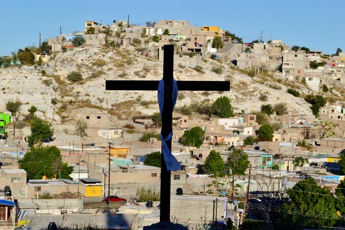 La colonia del Cerro de la Cruz, al poniente de Torreón. Foto © Jesús Flores.