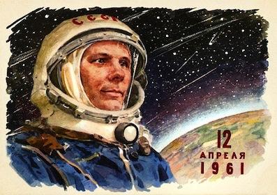 El primer hombre en el espacio.