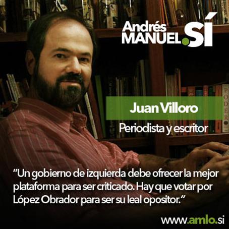 El Sí de Villoro a AMLO.