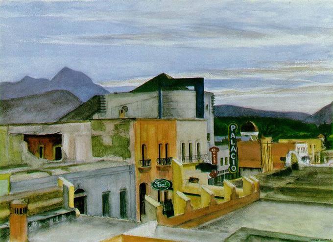 Edward Hopper, El Cine Palacio, en Saltillo.