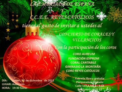 CCEE Reyes Católicos. Concierto de villlancicos. Navidad 2012