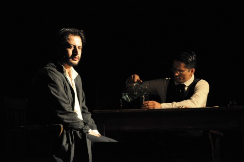 Un momento de la representación de Crimen y Castigo por el Teatro Libre de Bogotá( Foto Juan Francisco Zuleta)