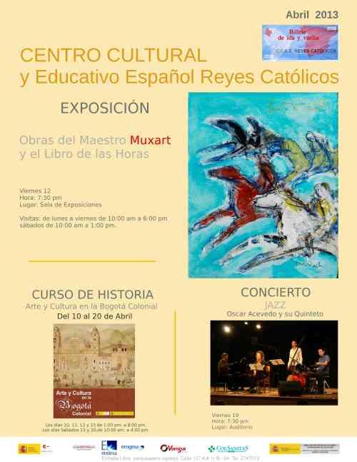 CCEE Reyes Católicos. Programación mes de abril de 2013