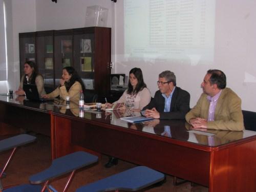De izquierda a derecha, Violeta Ariza, Erica da Silva, Marcela Lippi, Jaime Prieto y Luis Fernández.