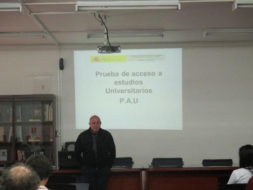 El Jefe de Estudios, José María Fernández explicó el desarrollo de las pruebas