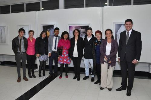Grupo de artistas emergenes y representantes de Fressco Arts