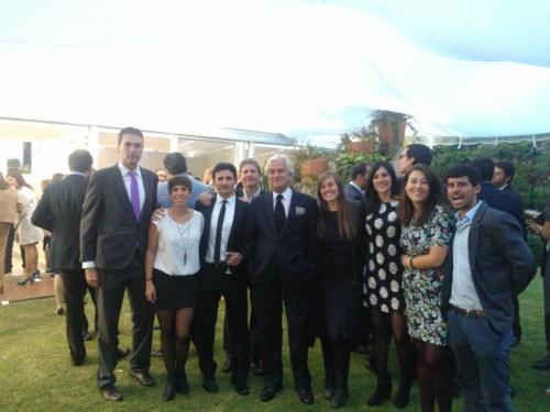 El Profesorado del CCEE Reyes Católicos, con el Embajador de España, en su Residencia oficial