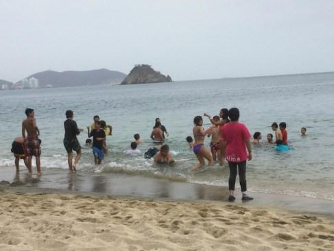 Baño en Sta Marta Playa Blanca.