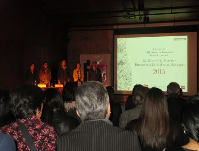 Presentación del acto de entrega de premios.