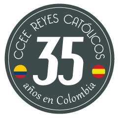 Logotipo del 35° aniversario del Centro Cultural y Educativo Español Reyes Católicos
