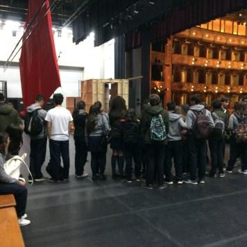 En el teatro Colón disfrutando del escenario