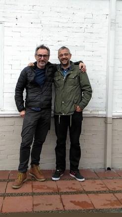 Xisco Fuster acompañado del profesor Julio Manuel Pérez Fraile