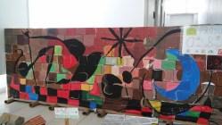 Mural de Miró: alumnado de 5 años