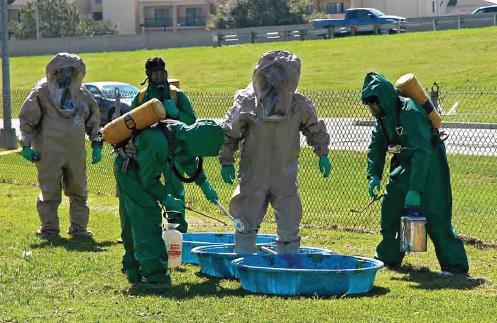 Control de las víctimas contaminadas por Hazmat