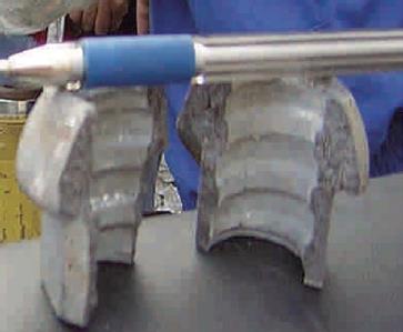 Figura: Ruptura de la tuerca. Caída de rocas en minería