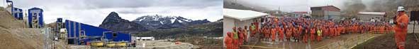 Operaciones en minera volcan