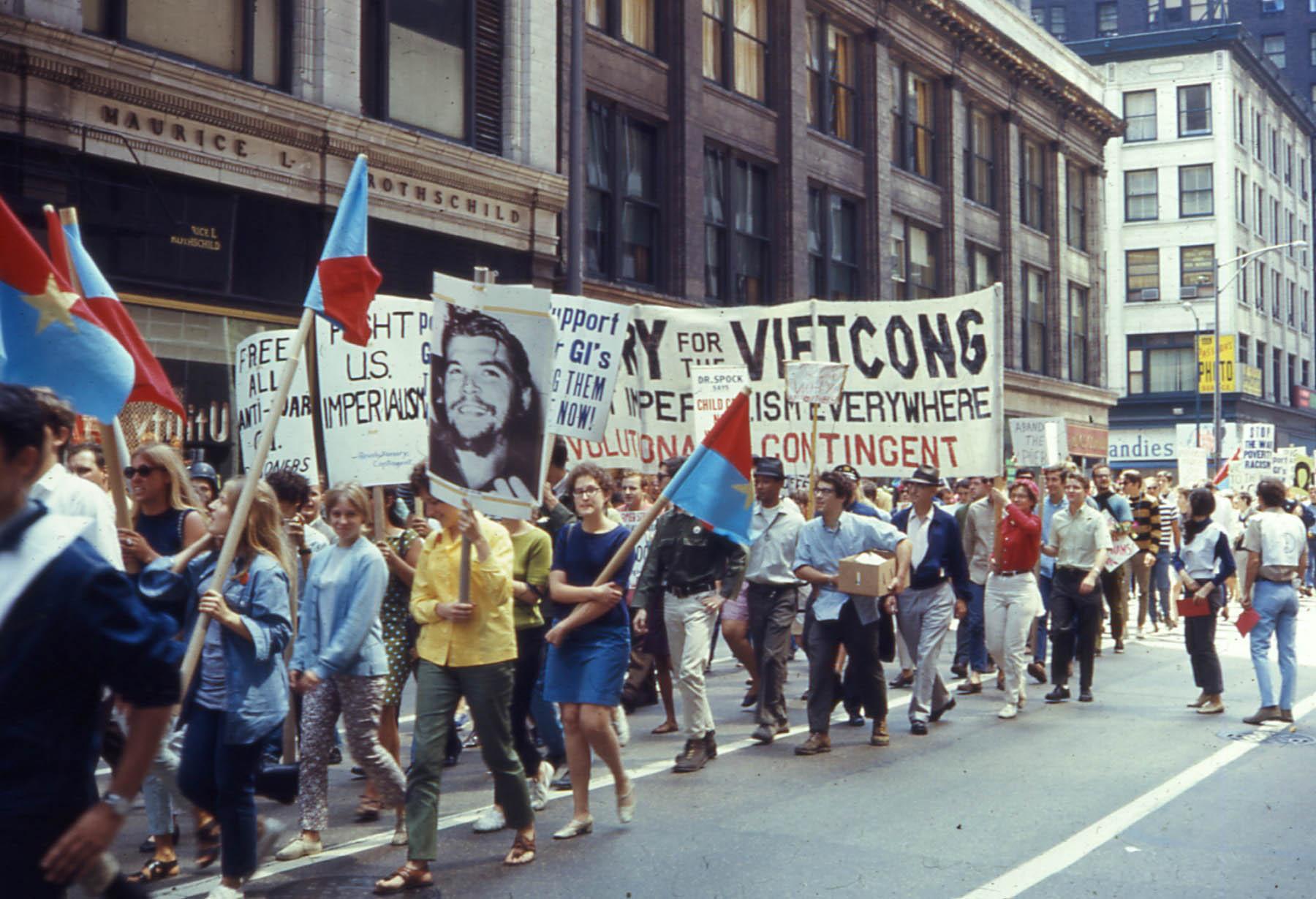 Marcha contra guerra Chicago 1968.