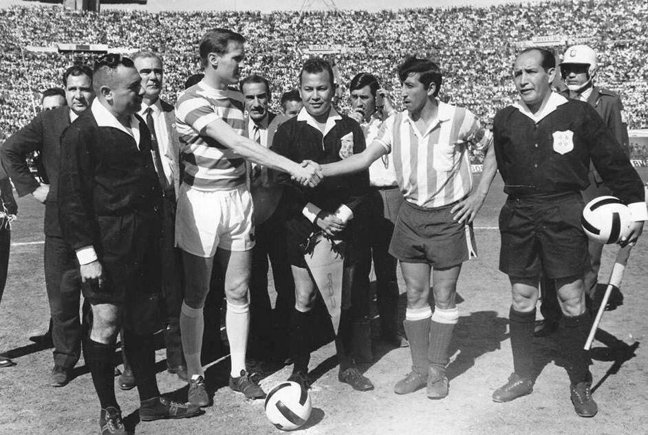 Billy McNeill y Oscar Martín Copa Intercontinental Celtic de Glasgow Racing Club