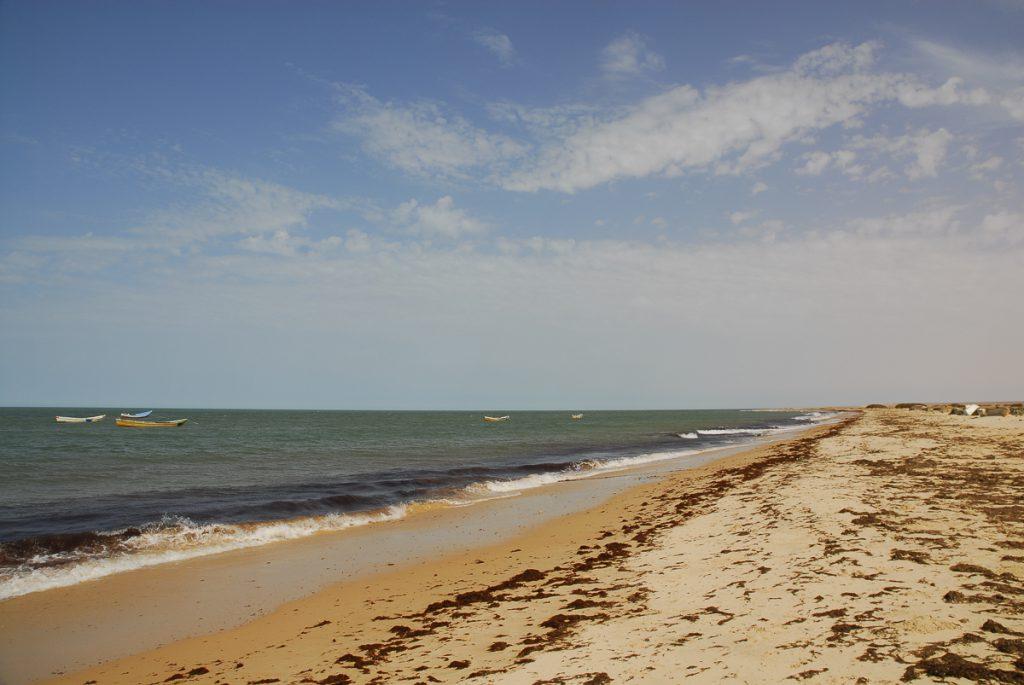 Mauritania a praia a caminho do Banc D Arguin