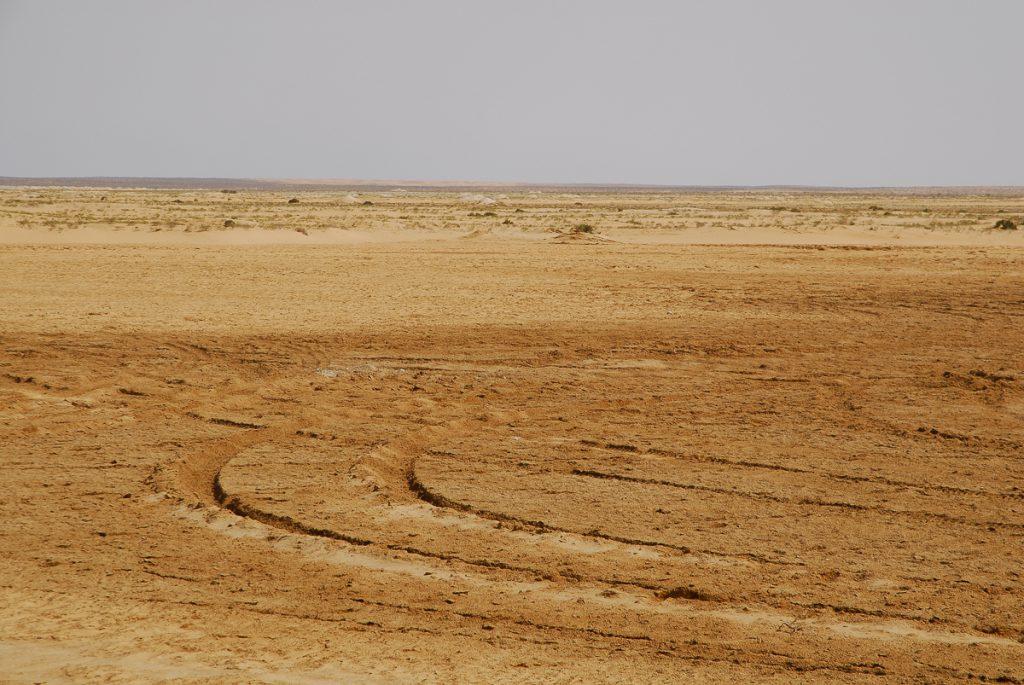 Mauritania um chott no deserto