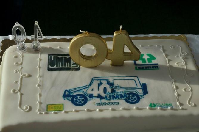 O bolo do 40º aniversário