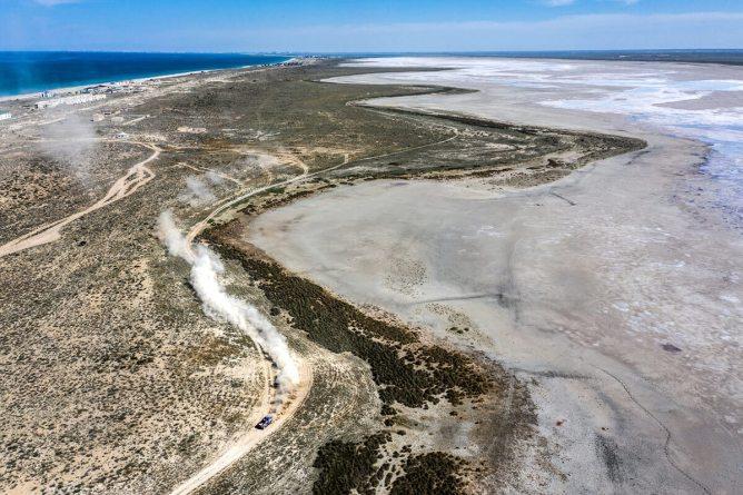 O Rali do Cazaquistão decorreu junto ao Mar Cáspio