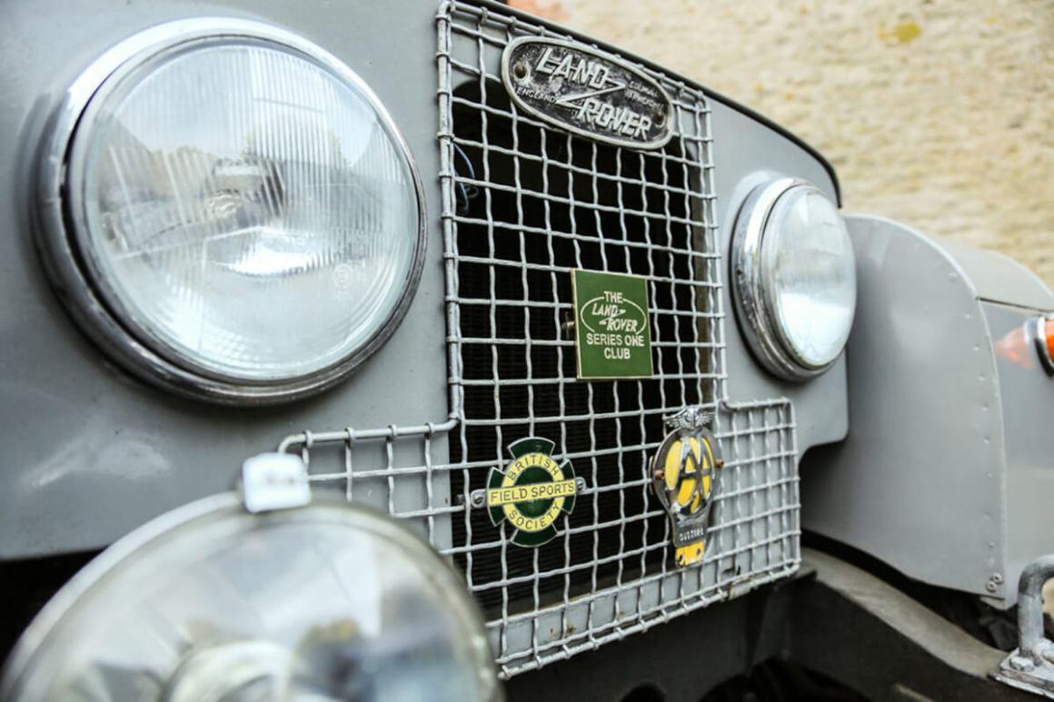 Land Rover 107 pormenor da grelha