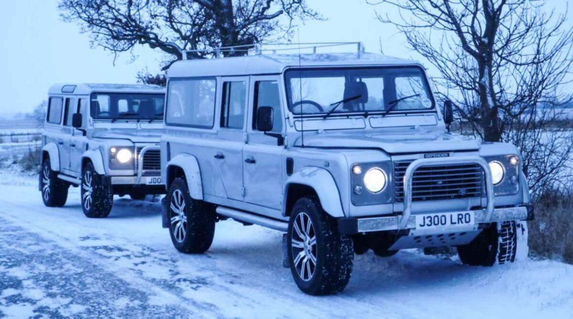 Land Rover Defender 130 e 110 funerários