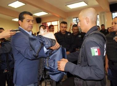 Policía de Huajuapan y autoridades