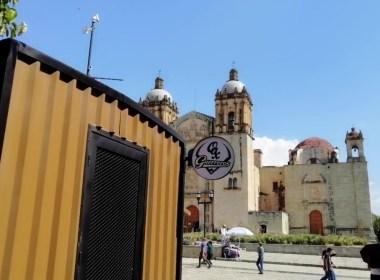 Puesto ambulante de los Guerreros de Oaxaca