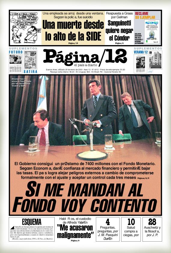 Miguel Bein es el economista en Página 12 año 2000
