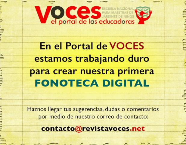 Fonoteca Digital ENMJN revistavoces.net el portal de las educadoras