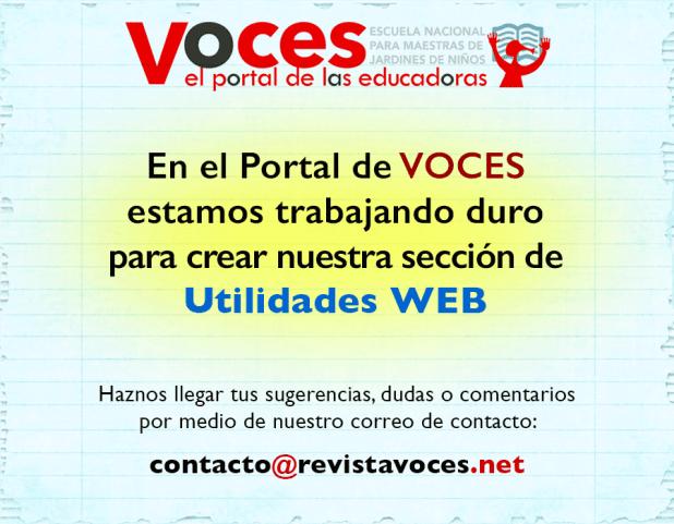 Utilidades WEB ENMJN revistavoces.net el portal de las educadoras