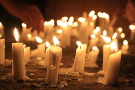 Fotografía. Velatorio por las víctimas de la dictadura. 11 de septiembre de 2013, Chile. (Javier Muñoz S)