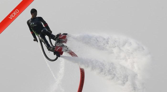 Flyboard. El nuevo deporte acuático extremo.