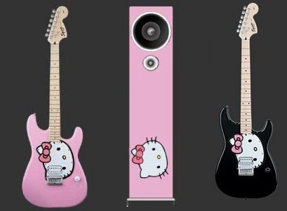 Guitarras Hello Kitty