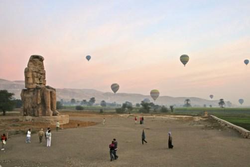 Despegue de globos en Egipto