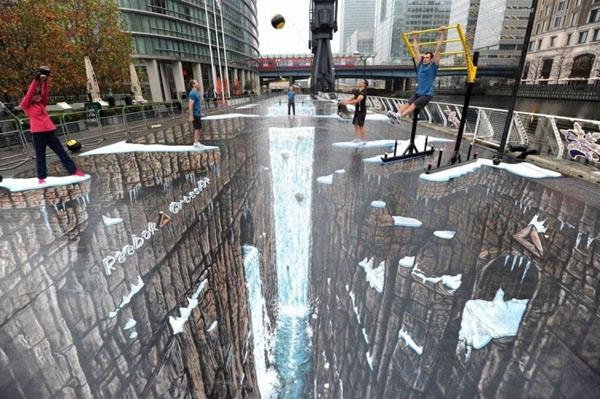Publicidad en Pinturas 3D - Publicidad Reebok