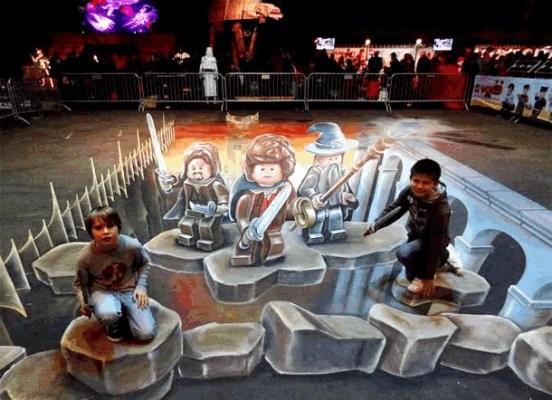 Publicidad en Pinturas 3D - Publicidad Lego Star Wars