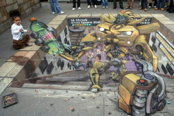 Publicidad en Pinturas 3D - Publicidad de bebidas