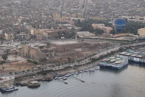 Luxor desde el aire