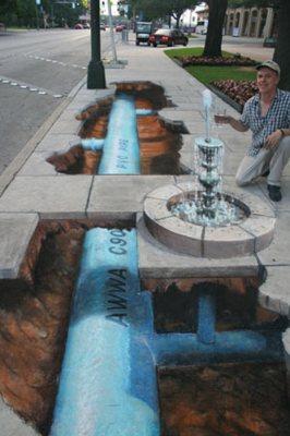 Publicidad en Pinturas 3D - Publicidad compañía del agua